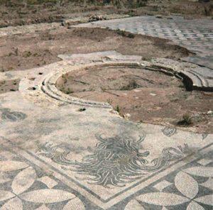 Maison des Dieux Océan vestibule-Site archéologique de Saint-Romain-en-Gal