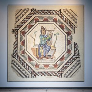 Mosaïque d'Orphée au musée de Saint-Romain-en-Gal