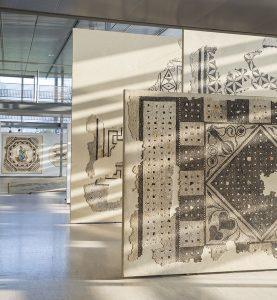 Mosaïque aux Losanges et crustae au musée de Saint-Romain-en-Gal