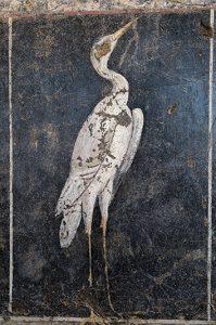 Peinture aux échassiers au musée de Saint-Romain-en-Gal