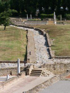 Tronçon sud de la rue des Thermes - Site archéplogique de Saint-Romain-en-Gal
