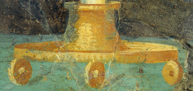 Musée de Saint-Romain-en-Gal – Enduit peint Candélabre à boules
