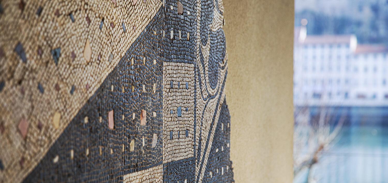 Mosaique aux Cercles sécants-Musée de Saint-Romain-en-Gal