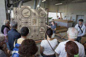 Visite de l'atelier de restauration de mosaïques et d'enduits peints de Saint-Romain-en-Gal