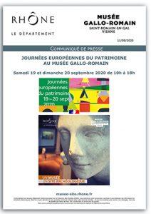 Communiqué de presse Musée de Saint-Romain-en-Gal