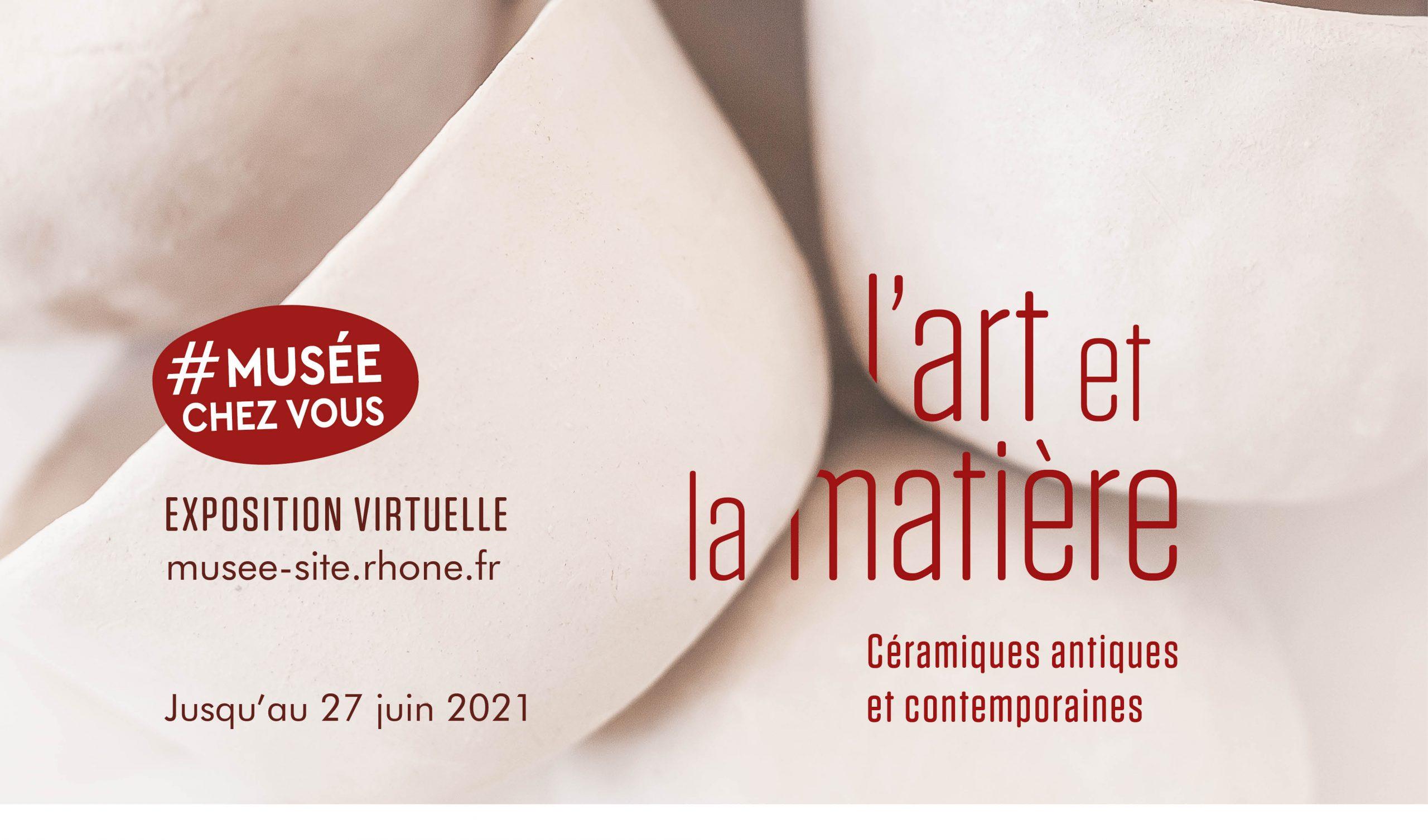 Affiche de l'exposition L'art et la matière, céramiques antiques et contemporaines